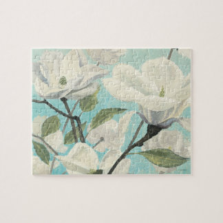 White Blossoms from the South Jigsaw Puzzle