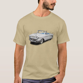 "White blue 1957 ""bel air"" convertible shirt"