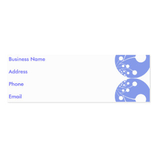 White & Blue Abstract Business Card
