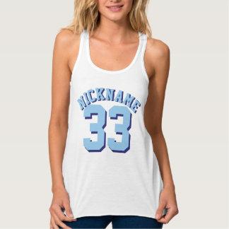 White & Blue Adults | Sports Jersey Design Singlet
