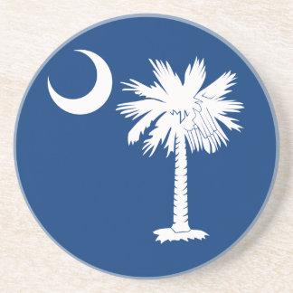 White Blue Palmetto Moon Coaster