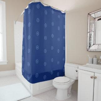 """White & Blue pattern""-3 Shower Curtain"