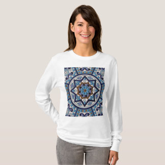 White, Blue, Purple and Gold Ceramic Art T-Shirt