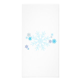 White Blue Snowflakes Christmas Decals Pillows Pin Custom Photo Card