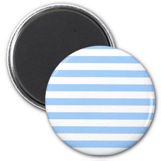 White-Blue Stripes Magnet