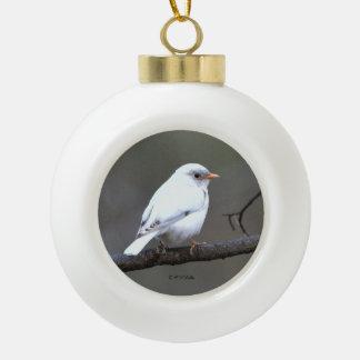 White Bluebird Tree Ornament