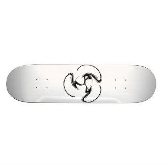 White board- Black swirlie design! Skate Boards