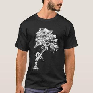 White Bodhi Tree on Dark Shirt