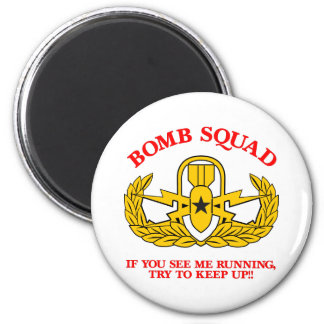 White Bomb Squad Run Keep Up Magnet