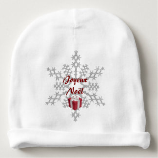 White bonnet baby Merry Christmas Baby Beanie