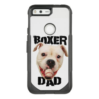 White Boxer Baseball dad Google Pixel phone case