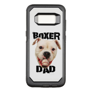 White Boxer Baseball dad Samsung S8 phone case