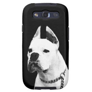 White boxer dog galaxy SIII cover