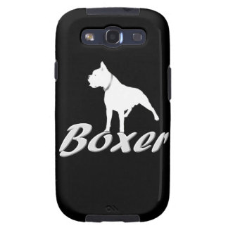 White boxer dog samsung galaxy SIII cover