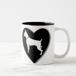 White boxer love mug
