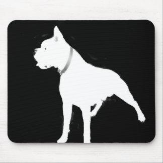 White boxer mousepad