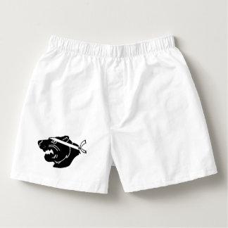 White boxers with black NinjaBear logo