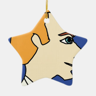 white boy1 ceramic ornament
