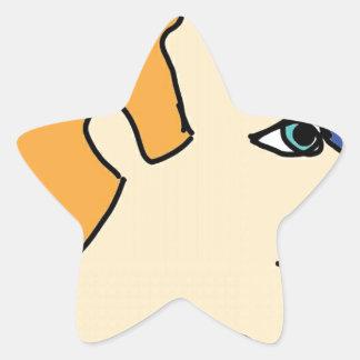 white boy1 star sticker
