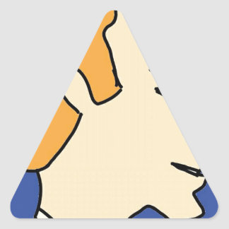 white boy1 triangle sticker