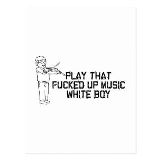 White Boy Music Postcard