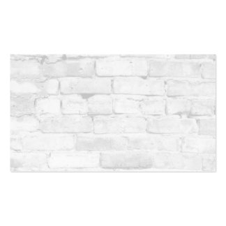 White Brick Background Pack Of Standard Business Cards