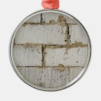 White Brick Metal Ornament