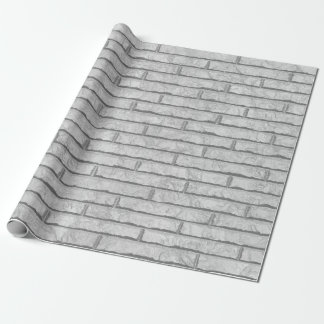 White brick wall wrapping paper