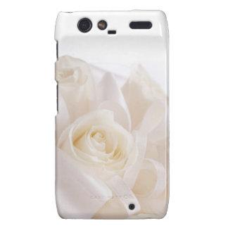 White Bridal Flowers Droid RAZR Cases