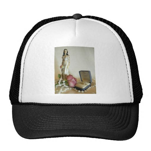 White Bridal IV Mesh Hat