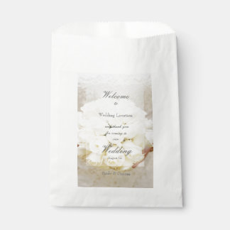 White Bridal Wedding Flower Bouquet Favour Bag