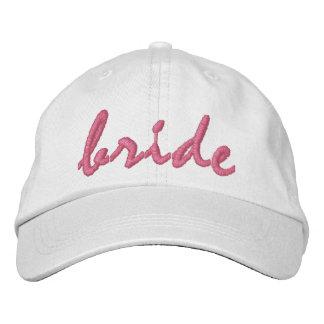 White Bride Embroidered Hat