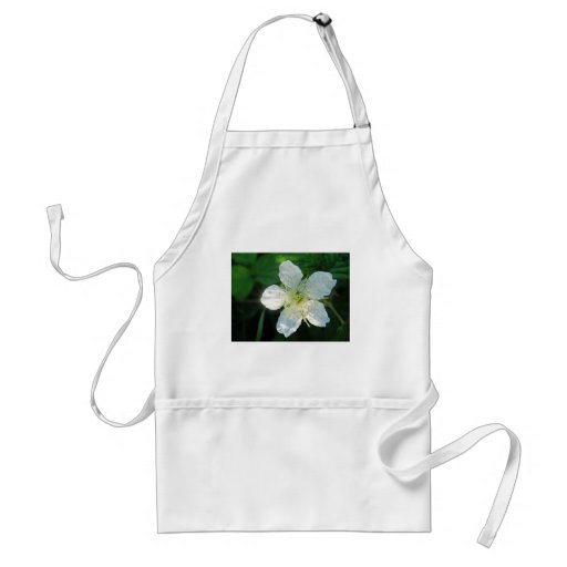 White Brombeerblüte Apron