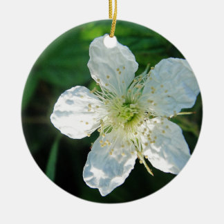 White Brombeerblüte Christmas Tree Ornament
