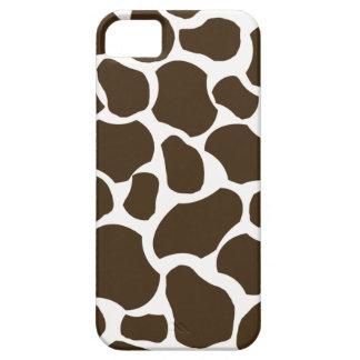 White brown giraffe spot fun stylish iphone 5 case