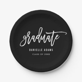 White Brush EDITABLE COLOR Graduation Plates