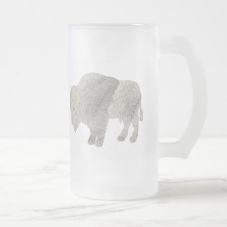 White Buffalo Drinkware Frosted Glass Beer Mug