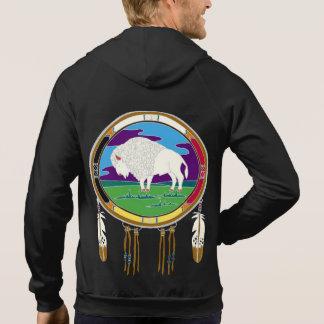 White Buffalo Fleece Zip Hoodie