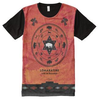 White Buffalo Medicine Wheel All-Over Print T-Shirt