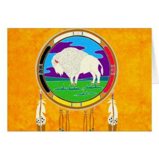 White Buffalo Native American Greeting Card