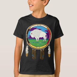 White Buffalo Native American Kids T-Shirt