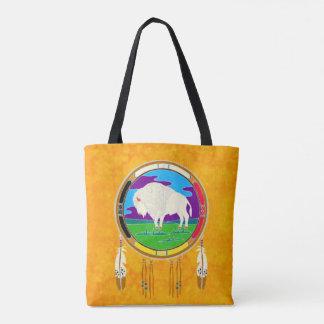 White Buffalo Native American Tote Bag