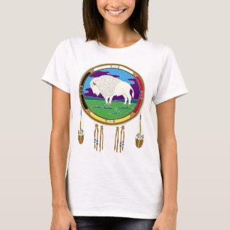 White Buffalo Native American Women's Basic Tshirt