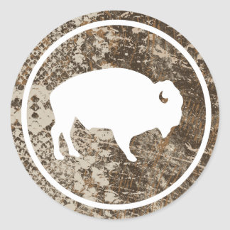 "White Buffalo Outdoors 3"" Round Camouflage Sticker"