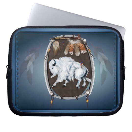 White Buffalo Shield Laptop Sleeve