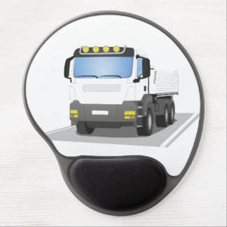 white building sites truck gel mouse pad