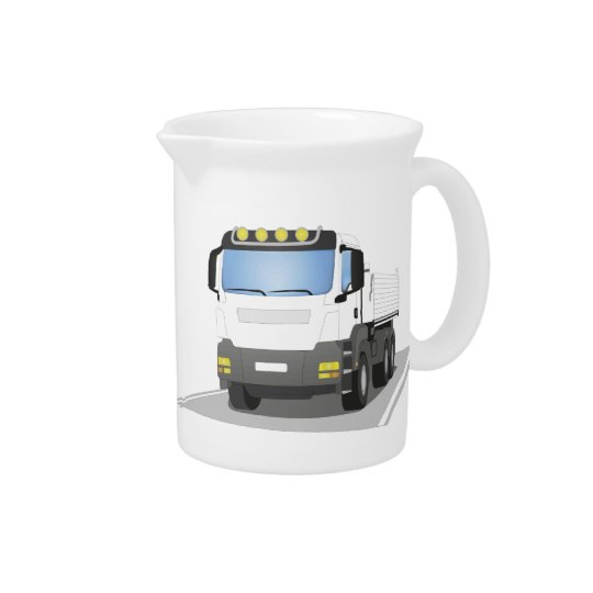 white building sites truck pitcher