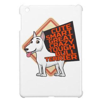 White Bull Terrier iPad Mini Covers