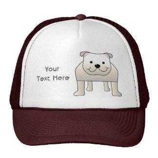 White Bulldog Cap