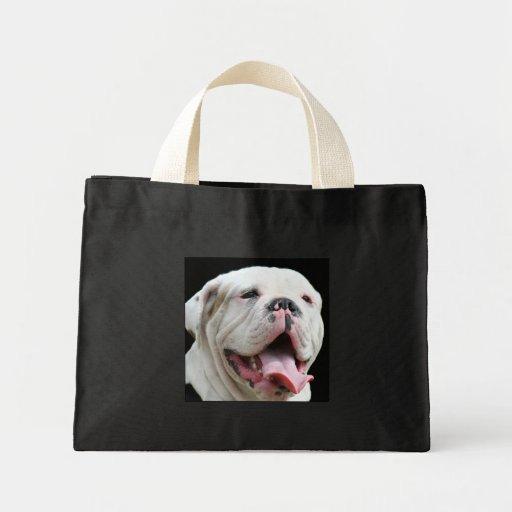 White Bulldog Tote bag